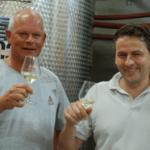 Arend Jan en Eric Dumon proosten