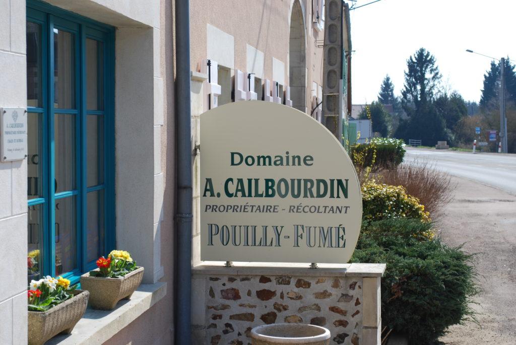 bedrijfsbord van domaine A. Cailbourdin