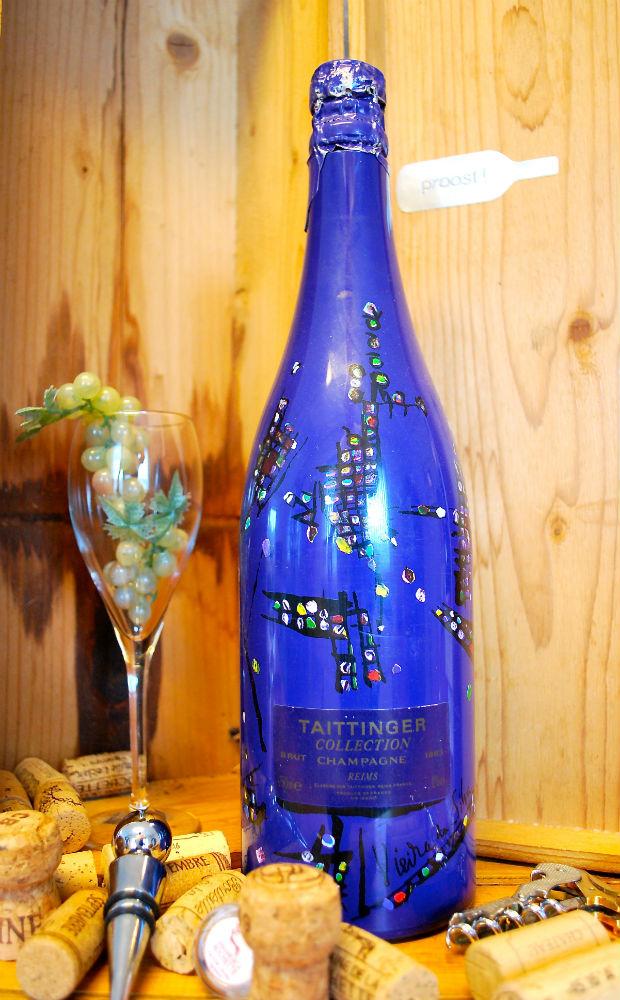 1 fles Champagne Taittinger van Vieirra da Silva ui 1988