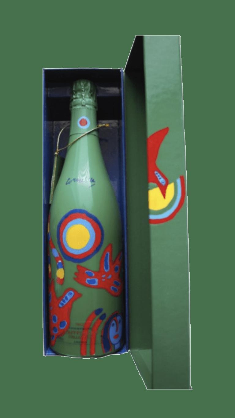 1 fles uit de collection Taittinger van Corneille uit 1996