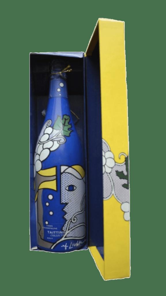1 fles uit de collection Taittinger Roy Lichtenstein uit 1990
