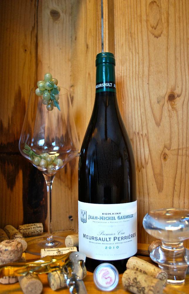 Fles Bourgogne Meursault 'les Perrières' van Jean Michel Gaunoux