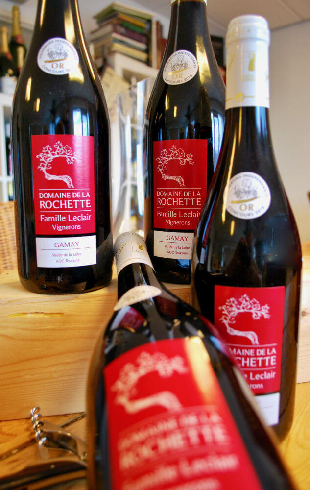 flessen Gamay de touraine van domaine de la Rochette