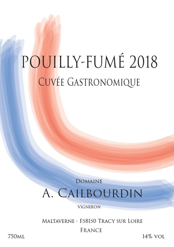 Etiket van cuvée Gastronomique 2018