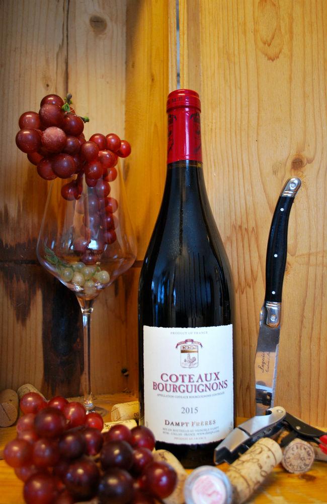 fles bourgogne rood, coteaux Bourguignons