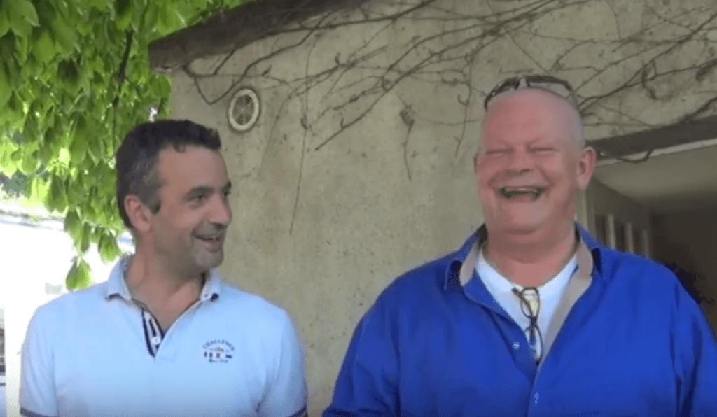 Vincent Leclair en Arend Jan de Wijnman hebben dikke pret