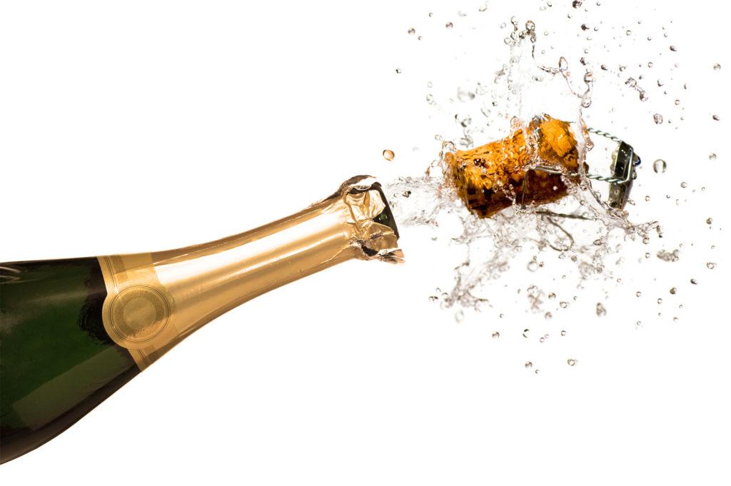 Poppende Champagnekurk