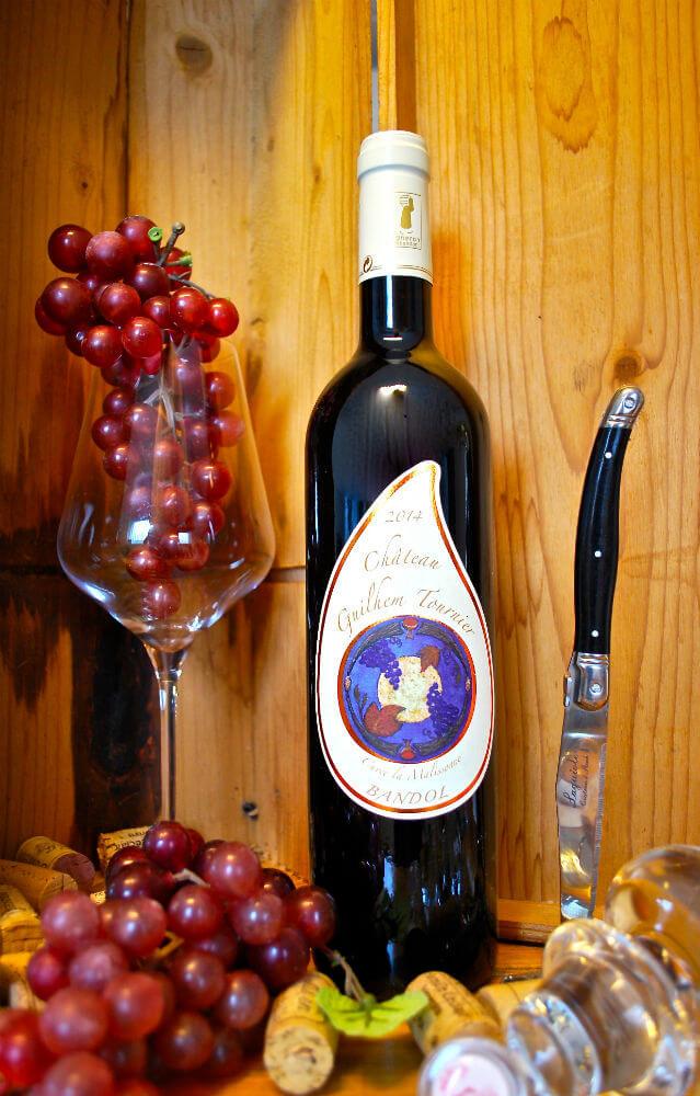 fles Bandol Rouge 'La Malisonne' van Guilhem Tournier