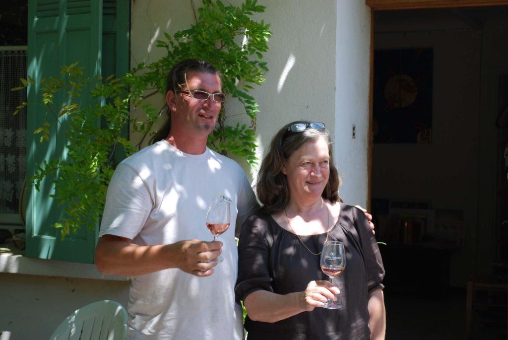 Guilhem Tournier met zijn moeder Geneviève Tournier