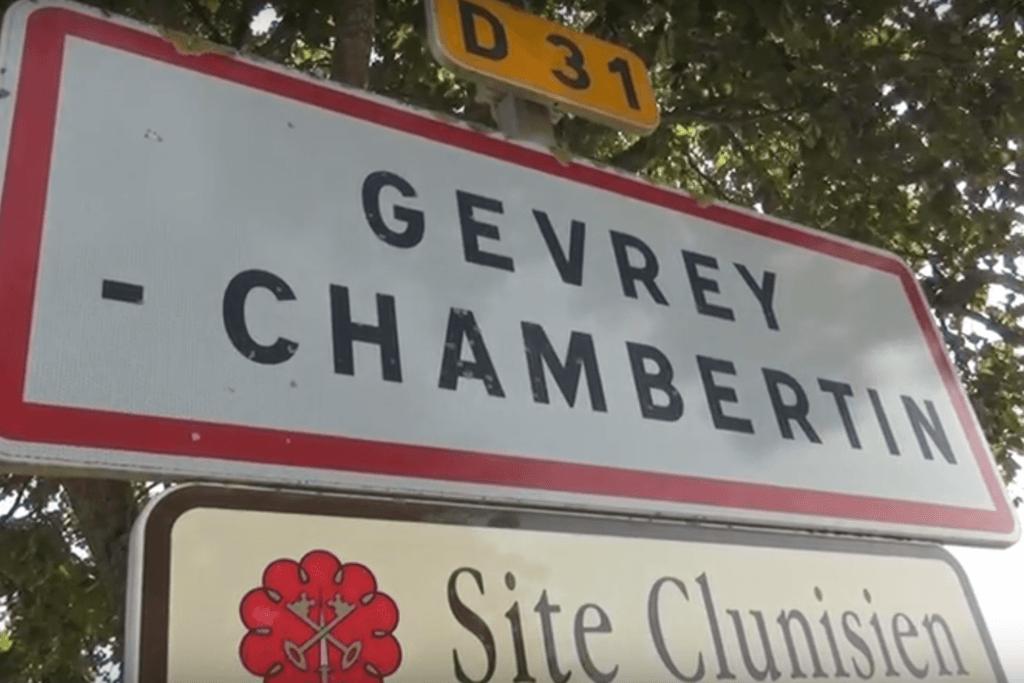 Straatnaambord van Gevrey Chambertin