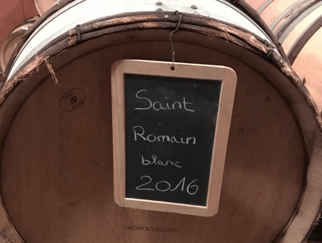 wijnvat met Saint Romainwijn van domaine Nicolas