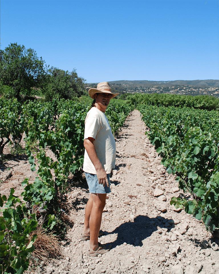 Guilhem Tournier in de Bandol wijngaard