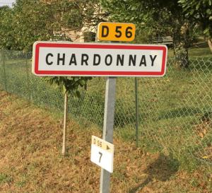 Plaatsnaambord Chardonnay