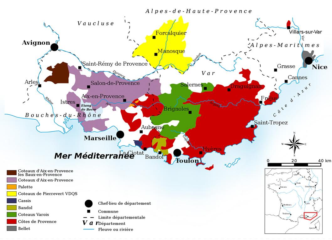 Wijnkaart Alpes-Haut Provence