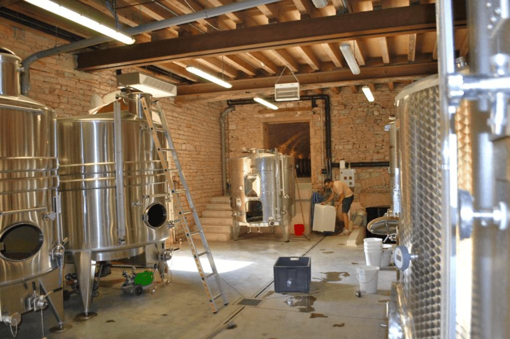 wijnmakerij van Château Vergisson