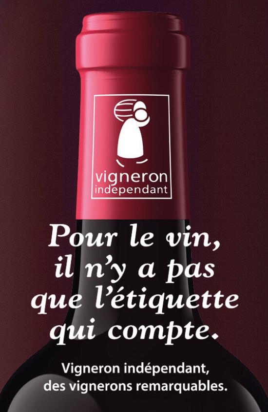 Slogan van de vignerons independants